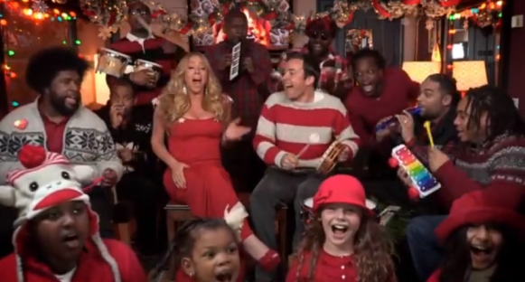 Jimmy Fallon, Mariah Carey, The Roots