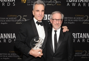 Director Steven Spielberg w/Daniel Day Lewis